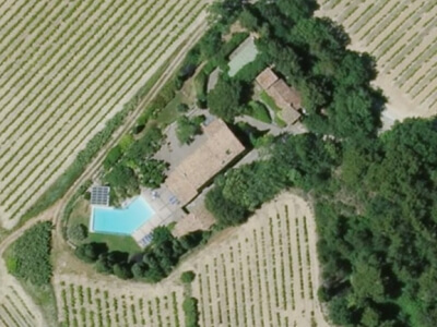 Locations de vacances à Bédoin : vue d'oiseau