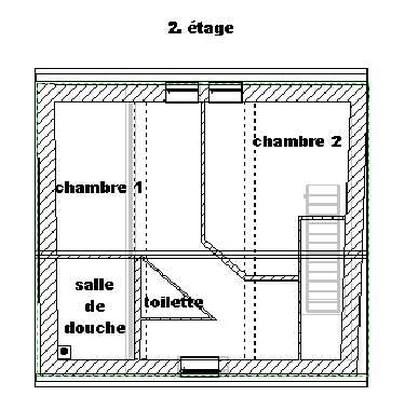 plan 2ième étage appartement de vacances Escalier