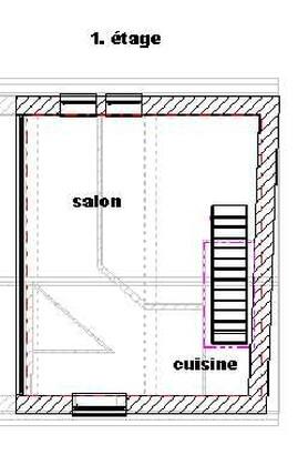 plan appartement de vacances Escalier