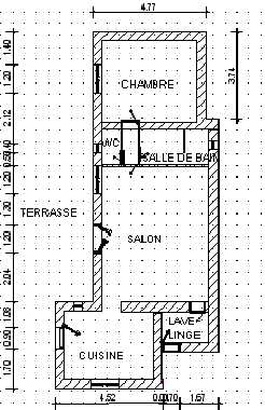 plan de la maison de vacances Treille - Mas des Templiers à Bédoin